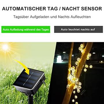 Solar Marokkanische Lichterketten Außen, NLNEY LED 7M 50er Lichterketten Aussen, 8 modi Solar Lichterkette Wasserdicht Lichter Beleuchtung für Garten, Terrasse, Hof, Haus, Weihnachten, Party - 4