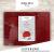 sølmo I 12er Premium Platzsets aus Filz Tischset Platzset 42x32 cm abwaschbar Filzuntersetzer Platzdeckchen Untersetzer Teller Platzset + Glas Untersetzer Echtholz Tisch geeignet Rot, Wine Red - 4