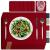 sølmo I 12er Premium Platzsets aus Filz Tischset Platzset 42x32 cm abwaschbar Filzuntersetzer Platzdeckchen Untersetzer Teller Platzset + Glas Untersetzer Echtholz Tisch geeignet Rot, Wine Red - 1