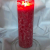 SOLUMAR | Premium Kerze Rot - Natürliche Handgemachte Palm Kerze mit speziellem Baumwolldocht - Auch für Allergiker - Brenndauer 65 Std. - 18 x 6,5 cm - Durchgefärbt - EU Made - (Gratis Teelichter) - 4