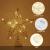 STOBOK Weihnachtsbaum Topper Stern Beleuchtet Baumkronen Ornament LED Licht Glitter Aushöhlampe für Weihnachten Party Ornament Dekorationen Golden - 2
