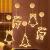 Sunshine smile LED Vorhang Licht, LED Fensterlicht Saugnapf,Kabelbeleuchtung,Fensterlichter,lichtervorhang Fenster led,Lichterkette,Lichtervorhang Lichter Weihnachtsbeleuchtung(6 Pcs) - 4