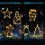 Sunshine smile LED Vorhang Licht, LED Fensterlicht Saugnapf,Kabelbeleuchtung,Fensterlichter,lichtervorhang Fenster led,Lichterkette,Lichtervorhang Lichter Weihnachtsbeleuchtung(6 Pcs) - 1