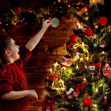 Sunshine smile LED Vorhang Licht, LED Fensterlicht Saugnapf,Kabelbeleuchtung,Fensterlichter,lichtervorhang Fenster led,Lichterkette,Lichtervorhang Lichter Weihnachtsbeleuchtung(6 Pcs) - 7