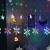 Towinle LED Lichterkette Sternen Schneeflocke Lichtervorhang 138 LEDs Led Schneeflocke Sternenvorhang mit Netzstecker 8 Lichtermodi Led Kette Weihnachten Party Fester Deko - 4