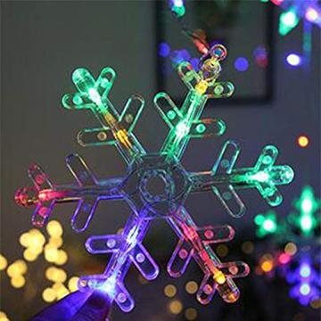 Towinle LED Lichterkette Sternen Schneeflocke Lichtervorhang 138 LEDs Led Schneeflocke Sternenvorhang mit Netzstecker 8 Lichtermodi Led Kette Weihnachten Party Fester Deko - 8