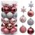 Victor's Workshop Weihnachtskugeln 35tlg. 5cm Plastik Christbaumkugeln Set, Weihnachtsbaumschmuck Dekoration Christbaumschmuck für Haus Dekoration Mysteriöser Palast Thema rosa lila silbern - 1
