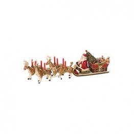 "Villeroy & Boch Christmas Toys Memory Spieluhr ""Santas Schlittenfahrt"", Porzellan, bunt - 1"