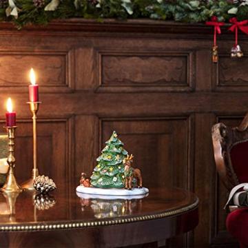 Villeroy & Boch - Christmas Toy's Memory Weihnachtsaum mit Waldtieren, dekorative Figur aus Hartporzellan, für Teelichter geeignet, bunt, 23 x 17 x 17 cm - 2