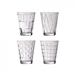 Villeroy & Boch Dressed Up Wassergläser, 4er-Set, 310 ml randvoll gemessen, Kristallglas, Klar - 1