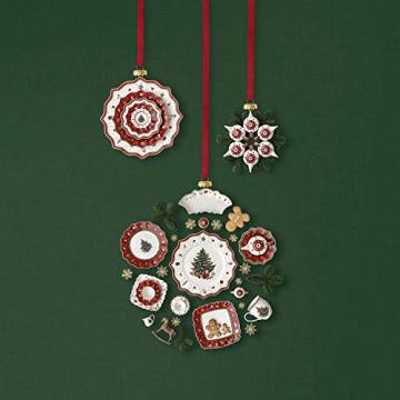 Villeroy & Boch Toys Delight Decoration Ornamente Kaffeeset 3tlg, Premium Porzellan, Textilien, Metall, weiß, rot, 6.3 - 3