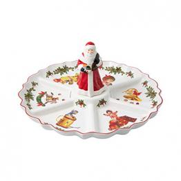 Villeroy & Boch - Toy's Fantasy Kabarett Santa-Figur, Servierteller aus Premium Porzellan, 38 x 38 x 19 cm, rund, bunt - 1