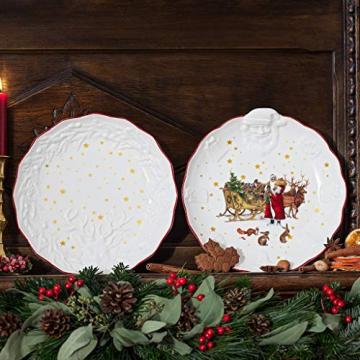 Villeroy & Boch - Toy's Fantasy Schale mit Santa-Relief Nostalgie, Premium Porzellan, 24 x 25 x 4.6 cm, bunt/rot/weiß - 2