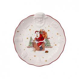 Villeroy & Boch Toys Fantasy Schale mit Santa Relief, Premium Porzellan, weiß, bunt, Mittel - 1
