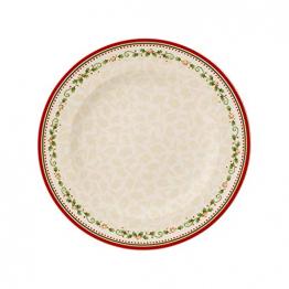 Villeroy & Boch Winter Bakery Delight Speiseteller, Fine Premium Porzellan, Weiß/Rot/Beige, 29.2 x 29.2 x 8.5 cm - 1