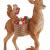 Villeroy & Boch - Winter Collage Accessoires Hirsch mit Waldtieren, formschöner Anhänger für den Christbaum, Polyresin, bunt, 14.5 x 9 x 21 cm - 1