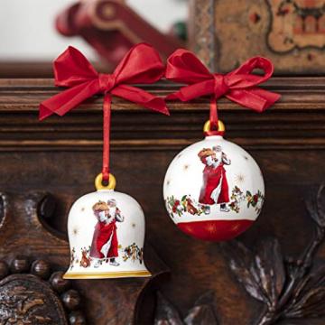 Villeroy und Boch - Annual Christmas Edition Glocke 2020, dekorative Weihnachtsglocke mit goldenem Bodenstempel, Premium Porzellan, bunt, 6 x 6 x 7 cm - 2