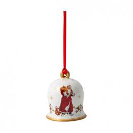 Villeroy und Boch - Annual Christmas Edition Glocke 2020, dekorative Weihnachtsglocke mit goldenem Bodenstempel, Premium Porzellan, bunt, 6 x 6 x 7 cm - 1