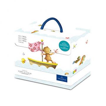 Villeroy und Boch Happy as a Bear Kinder-Tafelservice, 7-teilig, Premium Porzellan/Edelstahl, Weiß/Bunt - 3