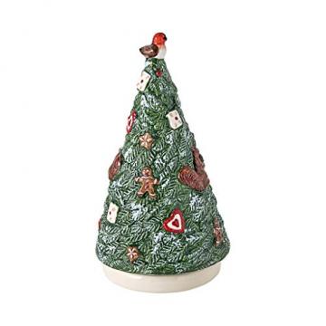 Villeroy und Boch - Nostalgic Melody Baum, Tannenbaumfigur mit Drehfunktion und Spieluhr, Porzellan, bunt, 9 x 9 x 17 cm - 1