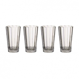 Villeroy und Boch Opéra Longdrinkglas, 4er-Set, 340 ml, Kristallglas, Klar - 1