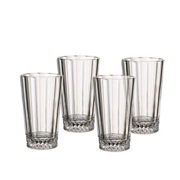 Villeroy und Boch Opéra Longdrinkglas, 4er-Set, 340 ml, Kristallglas, Klar - 4