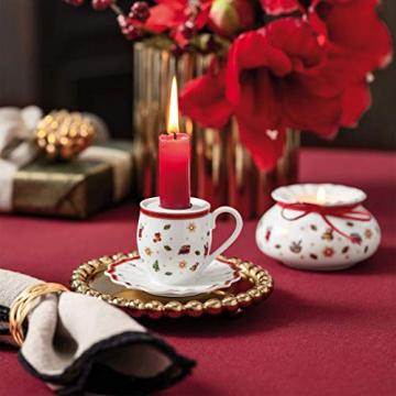 Villeroy und Boch - Toy's Delight Decoration Kerzenhalter Becher mit Henkel, Teelichthalter in Form eines Bechers, Porzellan, bunt, 10 x 6 cm - 2