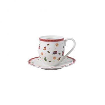 Villeroy und Boch - Toy's Delight Decoration Kerzenhalter Becher mit Henkel, Teelichthalter in Form eines Bechers, Porzellan, bunt, 10 x 6 cm - 1