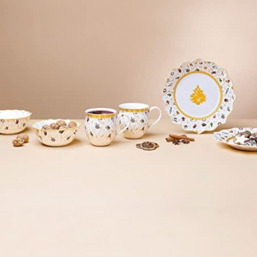 Villeroy und Boch - Toys Delight Frühstücks-Set für 2, 6tlg., weihnachtliches Geschirr-Set für 2 Personen aus der Jubiläumsedition, Porzellan, weiß - 3