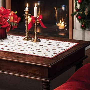 Villeroy und Boch Toy's Delight Gobelin Läufer XL, Tischläufer mit weihnachtlichem Streumotiv aus Baumwolle und Polyester, bunt, 49 x 143 cm - 2