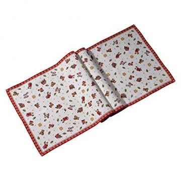 Villeroy und Boch Toy's Delight Gobelin Läufer XL, Tischläufer mit weihnachtlichem Streumotiv aus Baumwolle und Polyester, bunt, 49 x 143 cm - 1