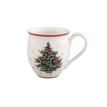 Villeroy und Boch Toy's Delight Kaffeebecher, 440 ml, Premium Porzellan, Weiß/Rot - 1