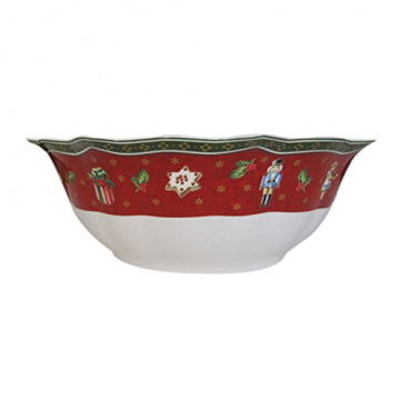 Villeroy und Boch Toy's Delight Schale, Premium Porzellan, Weiß/Rot - 1