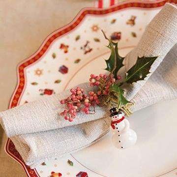 Villeroy und Boch Toy's Delight Weißer Speiseteller, 29 cm, Premium Porzellan, Weiß/Rot - 3