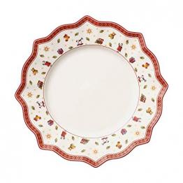Villeroy und Boch Toy's Delight Weißer Speiseteller, 29 cm, Premium Porzellan, Weiß/Rot - 1
