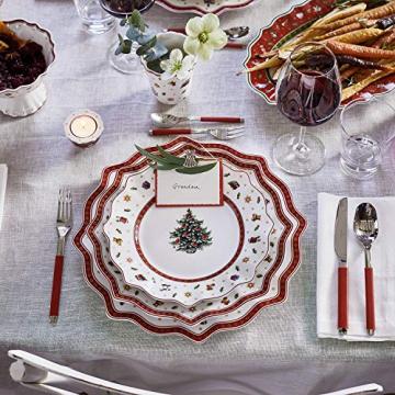 Villeroy und Boch Toy's Delight Weißer Speiseteller, 29 cm, Premium Porzellan, Weiß/Rot - 4
