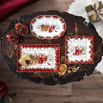 Villeroy und Boch - Toy's Fantasy Kuchenplatte eckig, festlicher Servierteller aus Premium Porzellan, 35 x 23 x 3,5 cm, bunt/rot/weiß - 2