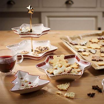 Villeroy und Boch Winter Bakery Delight Kleine Schale in Baum-Form, Premium Porzellan, Weiß/Rot/Beige - 3