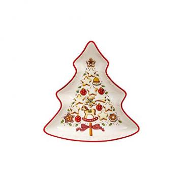 Villeroy und Boch Winter Bakery Delight Kleine Schale in Baum-Form, Premium Porzellan, Weiß/Rot/Beige - 1