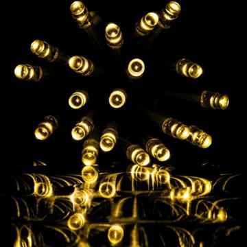 VOLTRONIC® 200 400 600 LED Eisregen Lichterkette für innen und außen, Farbwahl: warmweiß/kaltweiß/kaltweiß+warmweiß, GS geprüft, IP44, optional mit 8 Leuchtmodi/Fernbedienung/Timer - 3