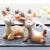 VOSAREA Rentier Figur Elch Hirsch Figur Weihnachten Tierfigur Dekofigur Weihnachtsfigur Xmas Party Deko Tischdeko Winterdeko Weihnachtsdeko (Anmutmuster) - 3