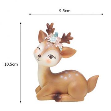 VOSAREA Rentier Figur Elch Hirsch Figur Weihnachten Tierfigur Dekofigur Weihnachtsfigur Xmas Party Deko Tischdeko Winterdeko Weihnachtsdeko (Anmutmuster) - 6