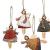 weihnachten engel anhänger - 4 Metall Engel Anhänger Weihnachts dekoration Hängender Schmuck von Innovativen Elchform Socken Schneeflocken für Weihnachtsbaum Fensterschmuck - 4