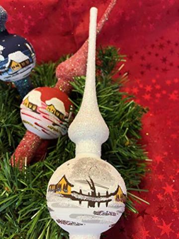 Weihnachtsbaum-Spitze aus Glas + Christbaum-Spitze Standard + Handarbeit aus Lauscha - 1