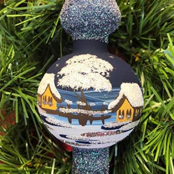 Weihnachtsbaum-Spitze aus Glas + Christbaum-Spitze Standard + Handarbeit aus Lauscha - 5
