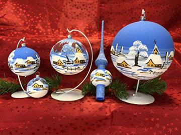 Weihnachtsbaum-Spitze aus Glas + Christbaum-Spitze Standard + Handarbeit aus Lauscha - 9
