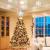 Weihnachtsbaumspitze Stern mit LED Projektion von dynamischen Schneeflocke Lichteffekte, Silber glitzende Christbaumspitze Weihnachtsbaumdeko, Netzteilbetriebene Baumspitze Stern Weihnachtsbaumschmuck - 2