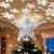 Weihnachtsbaumspitze Stern mit LED Projektion von dynamischen Schneeflocke Lichteffekte, Silber glitzende Christbaumspitze Weihnachtsbaumdeko, Netzteilbetriebene Baumspitze Stern Weihnachtsbaumschmuck - 1