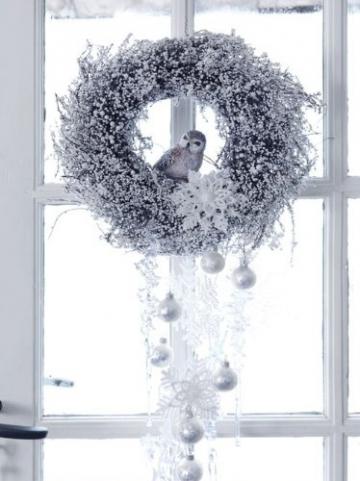 Weihnachtskugeln weiß mit eislack matt Glas 6cm - 2