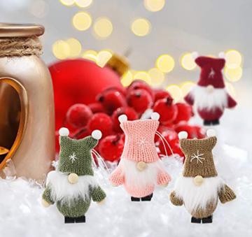 Weihnachtswichtel aus Holz 8-teiliges Set in Geschenkbox, 9 cm Baumanhänger Weihnachtsanhänger, mit Anhänger - Winterkinder als Weihnachtsbaumschmuck, Deko & Geschenk - 5